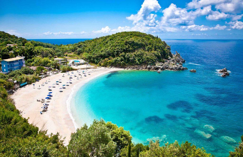 Epirus. Sarakiniko beach near Parga.