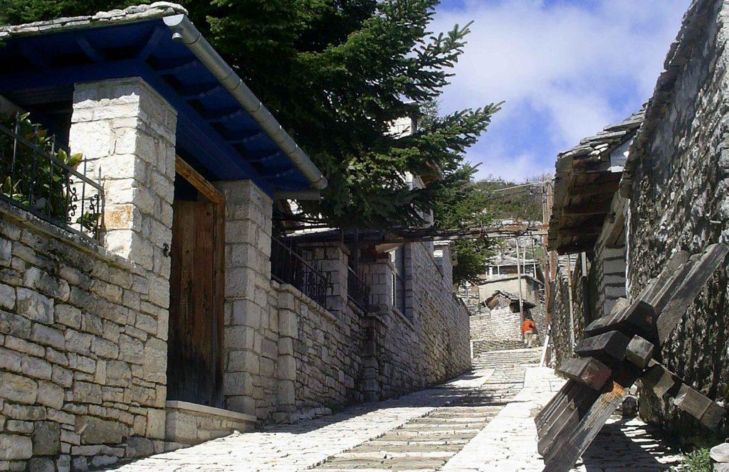 Epirus. Zagori. Monodendri village.